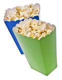покрашенные коробки заполнили обслуживание попкорна живое Стоковое фото RF