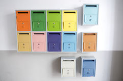 Покрашенные коробки почты Стоковое Изображение RF