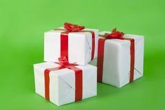 Покрашенные коробки с подарками рождества Стоковые Изображения