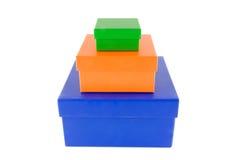 покрашенные коробки стоковое изображение rf