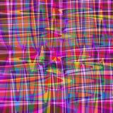 Покрашенные красочные линии на розовой предпосылке vector иллюстрация Стоковое Изображение RF