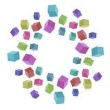 Покрашенные кубики Стоковые Изображения RF