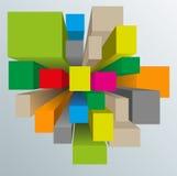 Покрашенные кубики Стоковые Изображения