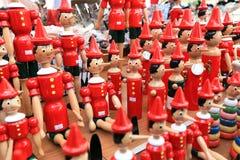 Покрашенные куклы сувенира диаграммы Pinocchio Стоковое Фото