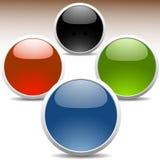 покрашенные лоснистые иконы Стоковая Фотография RF