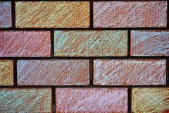 Покрашенные мелом кирпичи стены Стоковая Фотография RF