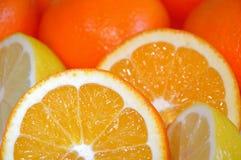 покрашенные нарисованные карандаши жизни лимона руки померанцовые все еще Стоковое Изображение RF