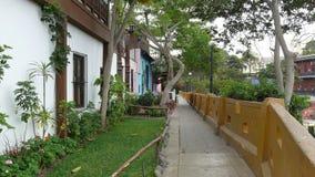 Покрашенные небольшие дома в Barranco, Лиме Стоковые Фотографии RF