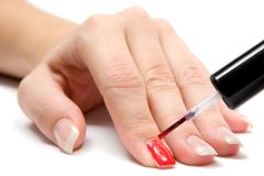 покрашенные ногти стоковая фотография