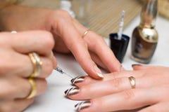 покрашенные ногти Стоковая Фотография RF