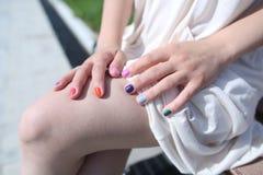 Покрашенные ногти Стоковое фото RF