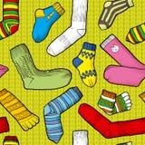 Покрашенные носки Стоковые Изображения