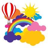 покрашенные облака иллюстрация вектора