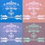 Покрашенные логотипы для компании Стоковые Изображения RF