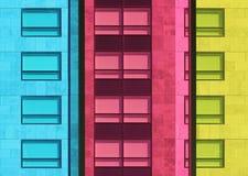 покрашенные окна Стоковая Фотография