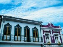 Покрашенные дома в Ouro Preto Стоковое Фото