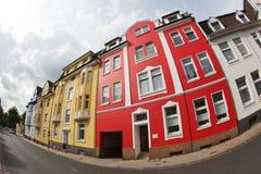 покрашенные дома стоковые фотографии rf