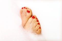 покрашенные пальцы ноги Стоковое Фото