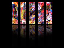 покрашенные панели вертикальные Стоковые Изображения RF
