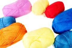 Покрашенные пасма шерстей в форме круга Стоковые Фото