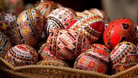 покрашенные пасхальные яйца румынскими Стоковое фото RF