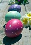 покрашенные пасхальные яйца Стоковые Изображения