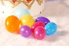 покрашенные пасхальные яйца Стоковое Изображение