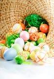 покрашенные пасхальные яйца Стоковое Изображение RF