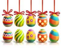 Покрашенная иллюстрация пасхальных яя Стоковое Изображение