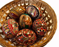 Покрашенные пасхальные яйца 25 Стоковые Изображения RF
