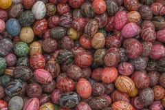 покрашенные пасхальные яйца стоковая фотография rf