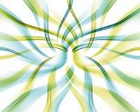 покрашенные переплетенные волны Стоковые Фотографии RF