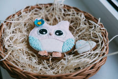 Покрашенные печенья на соломе Стоковое Фото