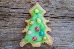 Покрашенные печенья рождественской елки Стоковые Изображения RF