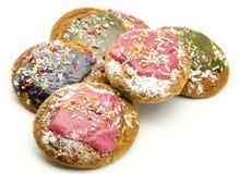 Покрашенные печенья стоковые фотографии rf