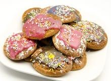 Покрашенные печенья стоковая фотография