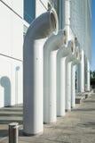 Покрашенные печные трубы вентиляции стальными Стоковые Изображения RF