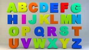 Покрашенные письма алфавита Стоковая Фотография