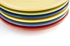 Покрашенные плиты изолят Стоковая Фотография