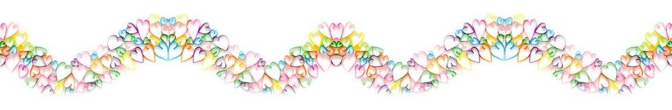 Покрашенные подарочные коробки с красочными лентами Белая предпосылка длиной Стоковое Изображение