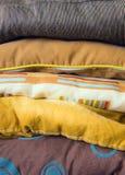 покрашенные подушки Стоковая Фотография