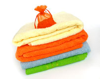 покрашенные полотенца Стоковая Фотография RF
