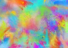 Покрашенные порошки для партии цвета holi весны стоковые изображения rf