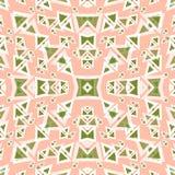 Покрашенные полигоны на нежной розовой предпосылке vector иллюстрация Стоковое фото RF
