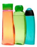 Покрашенные пластичные бутылки с жидкостным мылом и Стоковые Изображения