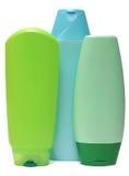 Покрашенные пластичные бутылки с жидкостным мылом и Стоковая Фотография