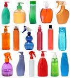 Покрашенные пластичные бутылки Стоковое Фото