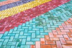 Покрашенные плитки дороги Стоковые Фото