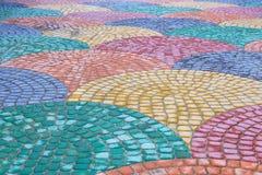 Покрашенные плитки дороги Стоковое Фото