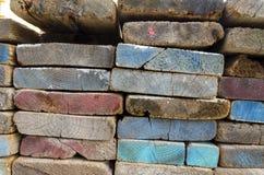 Покрашенные плиты лесами Стоковые Фото